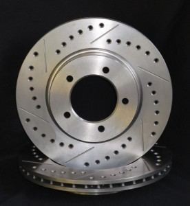 Drilled brake discs, cross drilled discs, slotted brake discs, slotted discs, drilled and slotted discs, combination discs, vented, drilled and slotted discs