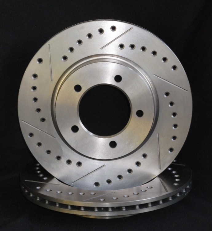 Cross Drilled And Slotted Brake Discs Fosseway