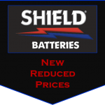 Reduced prices on Shield rubber case batteries, low price rubber cased battery