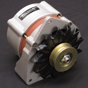 Lucas Stlye 11AC alternator - 70 amp. Direct fit Lucas 11AC style alternator - 70 amps internally regulated