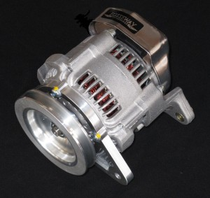 Denso 65 amp race alternator - direct replacement for Lucas ACR - includes correct pulley for application.